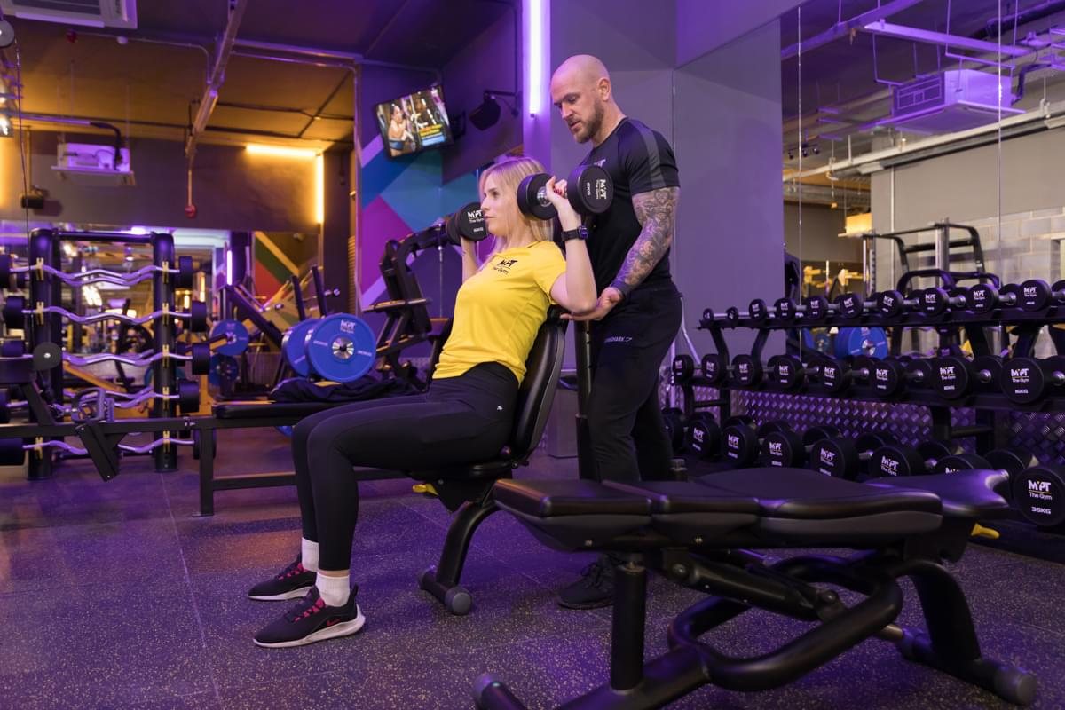 A Personal Trainer in Croydon with a client at MyPT The Gym
